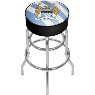 Premier League Manchester City Chrome Bar Stool with Swivel