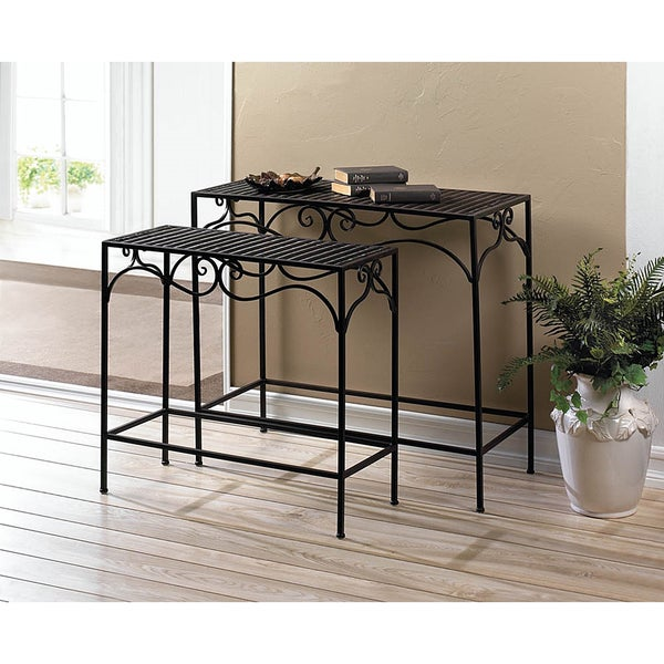 Hosta Slender Iron Accent Tables