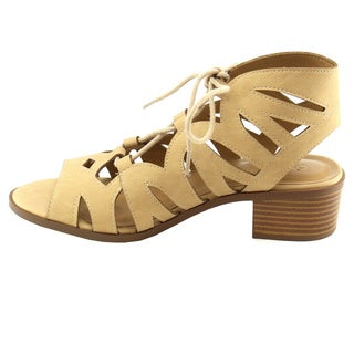 Beston Ia08 Women's Lace Up Chunky Sandals