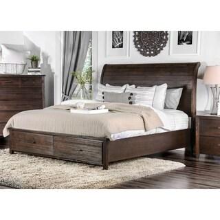 Furniture of America Rubio Country Style Espresso Platform Storage Bed
