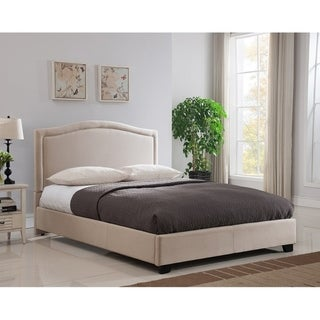 Rize Annapolis Queen Size Taupe Upholstered Platform Bed
