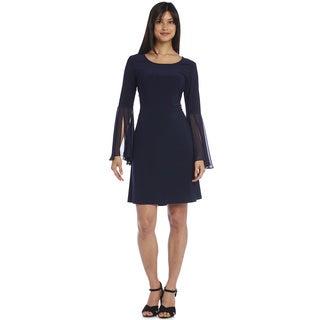 R&M Richards Jersey Chiffon Sleeve Dress