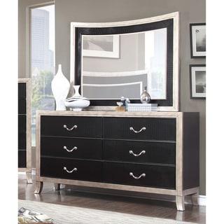 Furniture of America Irvine Contemporary 2-piece Two-Tone Dresser and Mirror Set