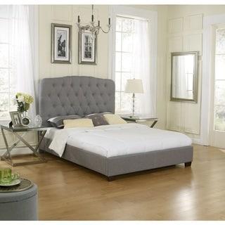 Sleep Sync Oak Harbor Uphostered Medium Grey Linen Platform-Slat Bed Complete