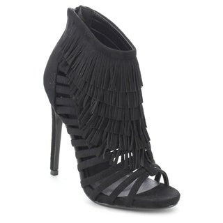 Bella Marie Vanesa-22 Women's Lovely Fringe Stiletto Heels