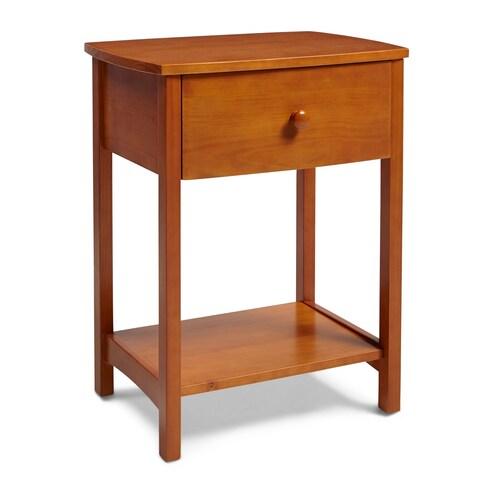 Rize Solid Wood Golden Oak Nightstand