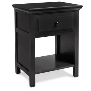Mantua Cottage Style Ebony Finish Nightstand