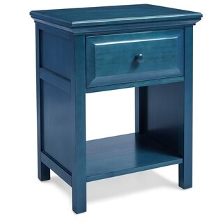 Porch & Den Baldwin Fairlane Blue Wood Nightstand