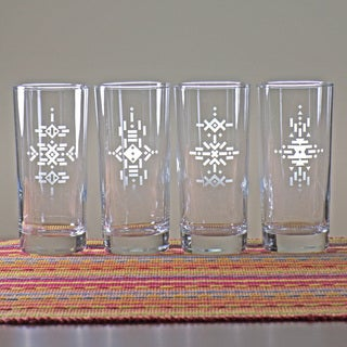 Tribal Hiball Glasses (Set of 4)