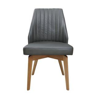 Aurelle Home Raliegh Side Chair Grey (Set of 2)