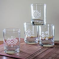Tribal Rocks Glasses (Set of 4)