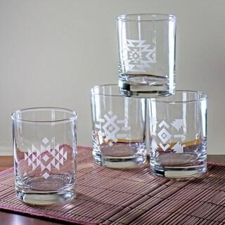 Tribal Rocks Glasses (Set of 4)