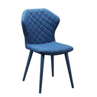 Aurelle Home Diamond Mid Century Modern Blue Dining Chair (Set of 2)