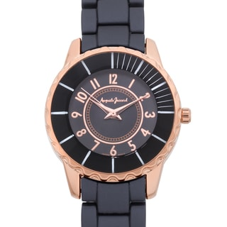 Auguste Jaccard Women's Scoria Black Colored Bezel Tachymeter Watch