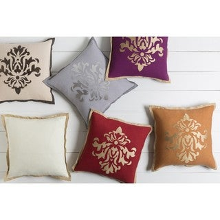 Decorative East 18-inch Poly or Down Filled Throw Pillow