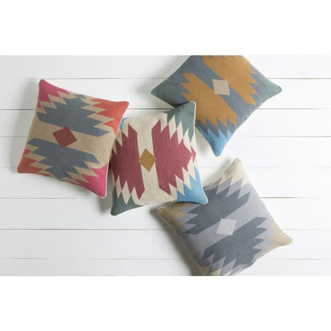 Decorative Chee 18-inch Poly or Feather Down Filled Throw Pillow