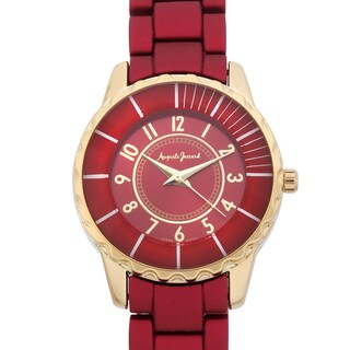 Auguste Jaccard Women's Scoria Red Colored Bezel Tachymeter Watch