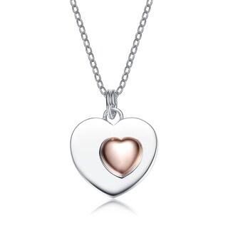 Collette Z Sterling Silver Copper Heart Pendant