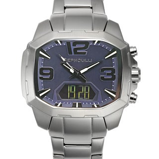 Bernoulli Men's Rigel Stainless Steel Multi-layered Navy Dial Analog-Digital Watch