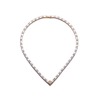 Collette Z Sterling Silver Cubic Zirconia Pear Shaped Necklace