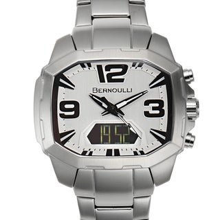 Bernoulli Men's Rigel Stainless Steel Multi-layered Dial Analog-Digital Watch