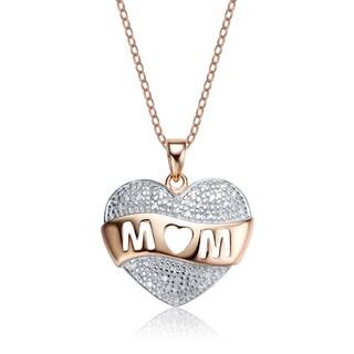 Collette Z Sterling Silver Diamond Mom Pendant