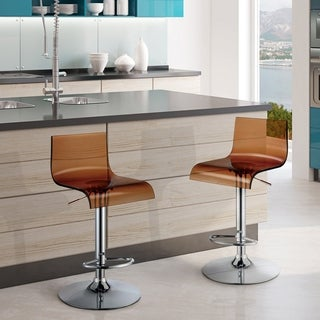 Furniture of America Hermie Contemporary High Back Adjustable Bar Chair (Set of 2)