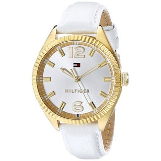 Tommy Hilfiger Women's 1781517 'Chrissy' White Leather Watch