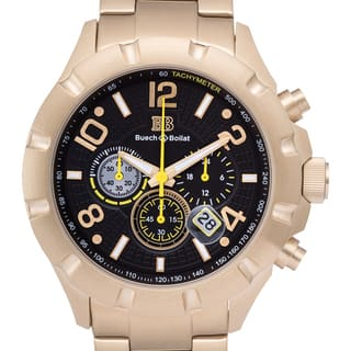 Buech and Boilat Men's Monument Goldtone Stainless Steel Chronograph Watch|https://ak1.ostkcdn.com/images/products/11442304/P18402345.jpg?impolicy=medium