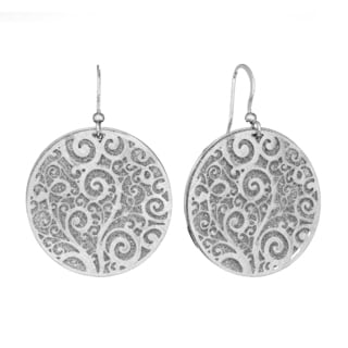 Isla Simone - Silver Tone Crystalized Bi-Level Paisley Earring