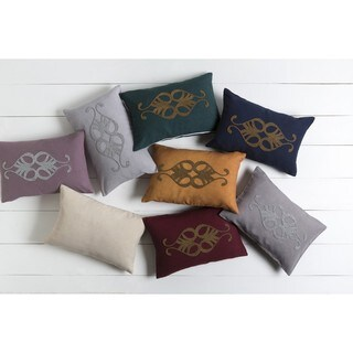 Decorative Cory Poly or Down Filled Throw Pillow (13 x 20) (4 options available)