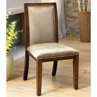 Furniture of America Berla Country Style Walnut Side Chair (Set of 2)
