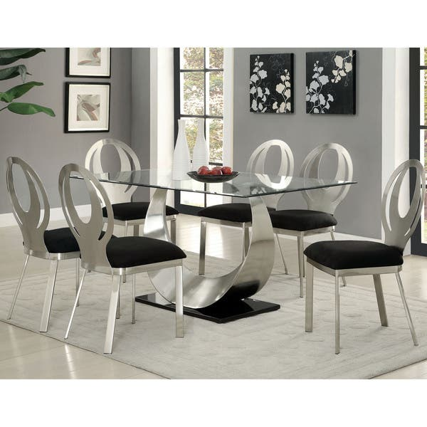 Furniture Of America Heer Contemporary Black Dining Chairs Set Of 2 Overstock 11442374