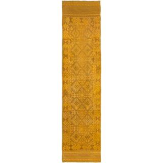 Ecarpetgallery Hand-knotted Tajik Caucasian Brown Wool Runner Rug (2'1 x 8'10)