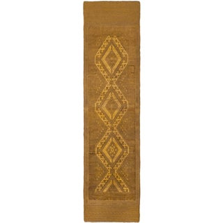 Ecarpetgallery Hand-knotted Tajik Caucasian Brown Wool Runner Rug (2'2 x 8'8)