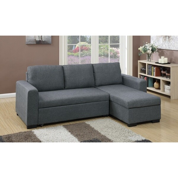 Shop Cremona 2 Pieces Sectional Sofa Upholstered in Polyfiber - Free ...