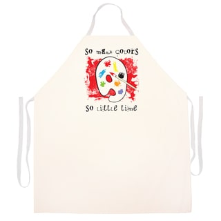 So Many Colors So Little Time' Artist Apron-Natural