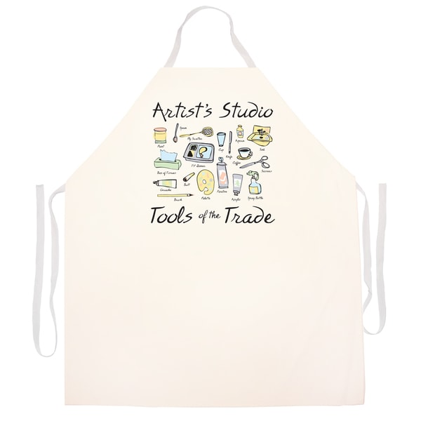 Artist's Studio Tools Of The Trade' Artist Apron-Natural