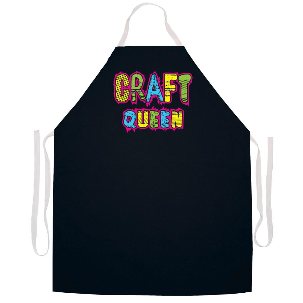 Attitude Aprons Craft Queen' Artist Apron-Black (Craft Qu...