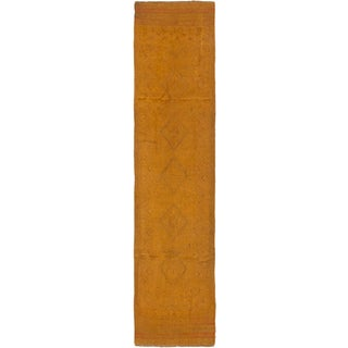 Ecarpetgallery Hand-knotted Tajik Caucasian Brown Wool Runner Rug (1'11 x 8'10)