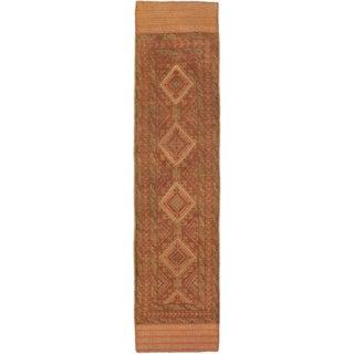 Ecarpetgallery Hand-knotted Tajik Caucasian Brown Orange Wool Runner Rug (1'11 x 8'3)