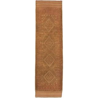 Ecarpetgallery Hand-knotted Tajik Caucasian Brown Wool Runner Rug (2'3 x 8'2)