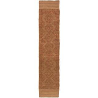 Ecarpetgallery Hand-knotted Tajik Caucasian Brown Orange Wool Runner Rug (1'10 x 8'11)