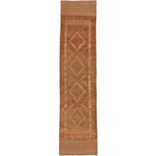 Ecarpetgallery Hand-knotted Tajik Caucasian Brown Orange Wool Casual Runner Rug (1'11 x 8'2)