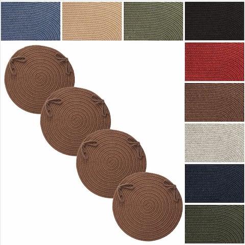 Rhody Rug Woolux Wool Reversible Chair Pads (Set of 4)