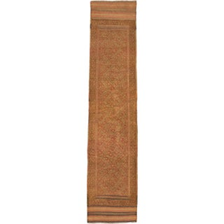 Ecarpetgallery Hand-knotted Tajik Caucasian Brown Orange Wool Runner Rug (1'9 x 8'5)
