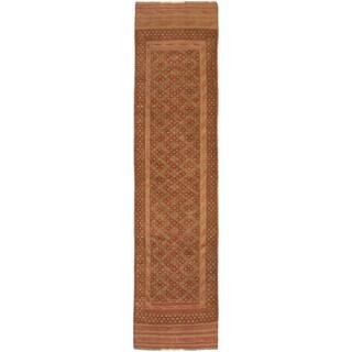 Ecarpetgallery Hand-knotted Tajik Caucasian Brown Orange Wool Casual Runner Rug (2' x 8')