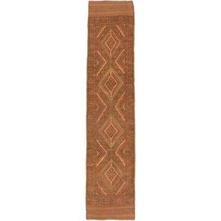 Ecarpetgallery Hand-knotted Tajik Caucasian Brown Orange Wool Runner Rug (1'11 x 8'8)