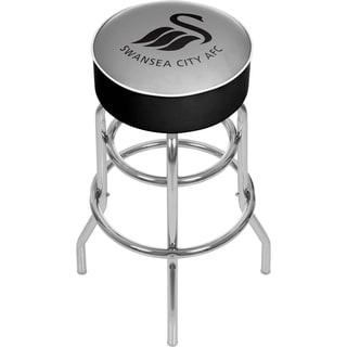 Premier League Swansea City Chrome Bar Stool with Swivel
