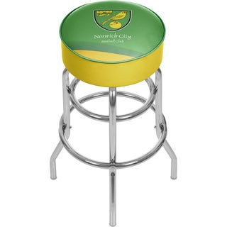Premier League Norwich City Chrome Bar Stool with Swivel